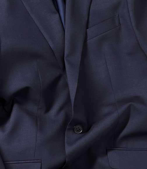 suit detail: creas resistant